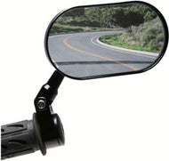Oberon Adjustable Handlebar Clamp Mirror OVAL