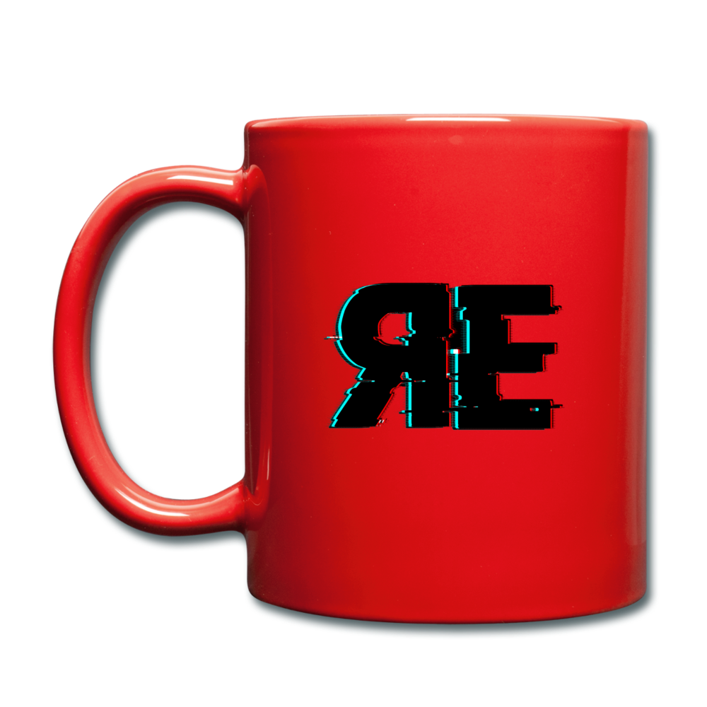 Random Evolved Media Full Color Coffee Mug - red