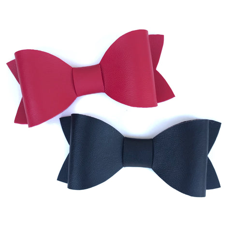 Faux Leather Bow Ties