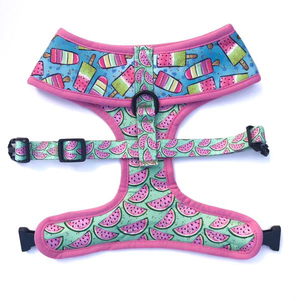 Popsicles and Watermelon Reversible Harness