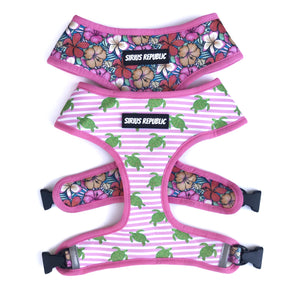 Sea Turtles and Floral Reversible Harness