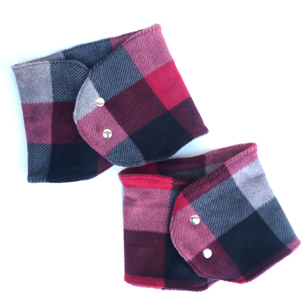 Be Plaid Mandarin Collar Scarf