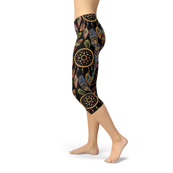 Womens Dreamcatcher Capri Leggings