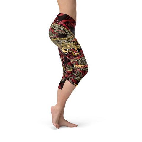 Womens Dragon Capri Leggings