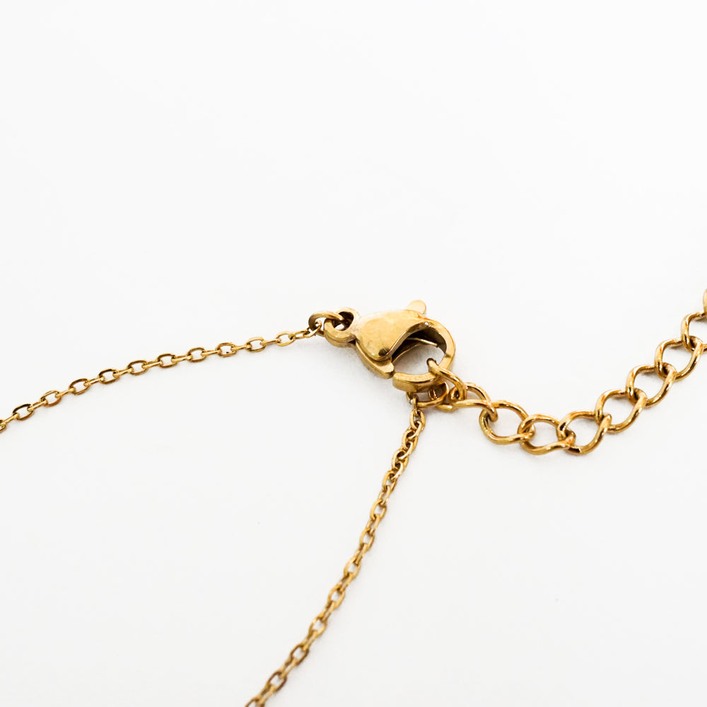 Heart-Shaped Padlock Necklace - Gift for Valentine - Stainless Steel 18K Gold-filled