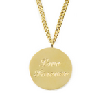 Love Forever Necklace - Double Chain - Gift for Valentine - Stainless Steel 18K Gold Plated