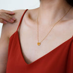 Heart Necklace - Stainless Steel 18K Gold-filled - Great Necklace for Valentine