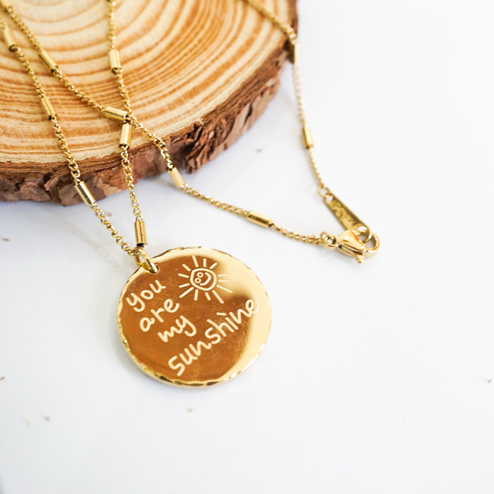 You Are My Sunshine Necklace - Stainless Steel 18K Gold-filled