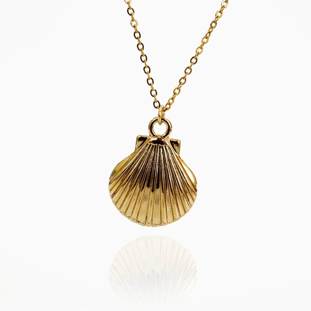 Seashell Necklace - Double Chain - Gold-filled - Necklace for Beach Lover (Limited Products)