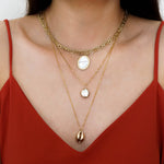 Conch Necklace - Double Chain - Gold Plated - Necklace for Beach Lover (Limited Products)