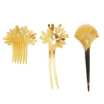 Natural Buffalo Horn Hairpin - Hair Stick in Diverse Shapes with Dark and Light Color