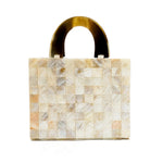 Beautiful Handbag Made of Buffalo Horn in Natural White - Perfect Handmade Bag for Women