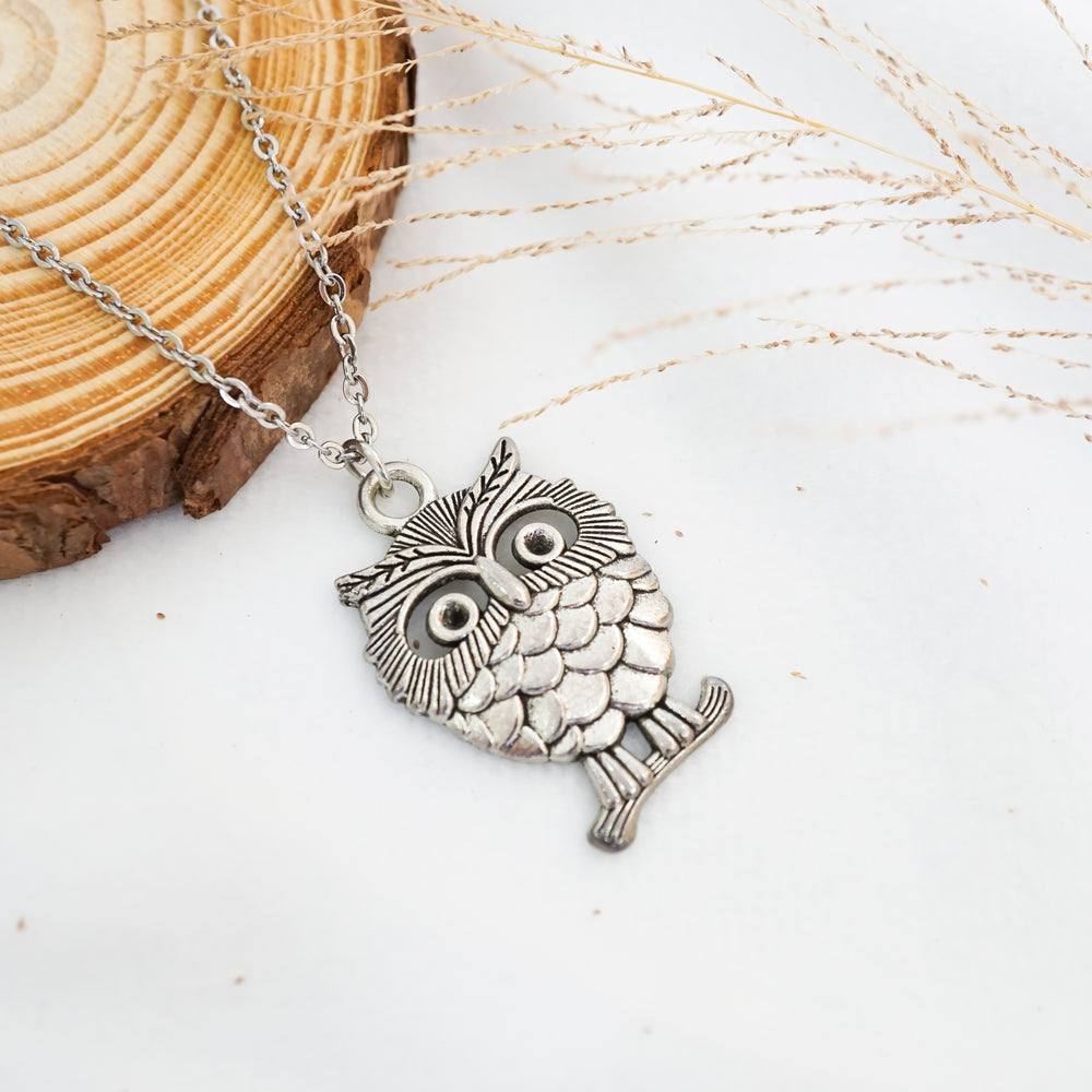 Owl Necklace - Stainless Steel - Understanding, Patience, Insight, Protection (Limited Products)