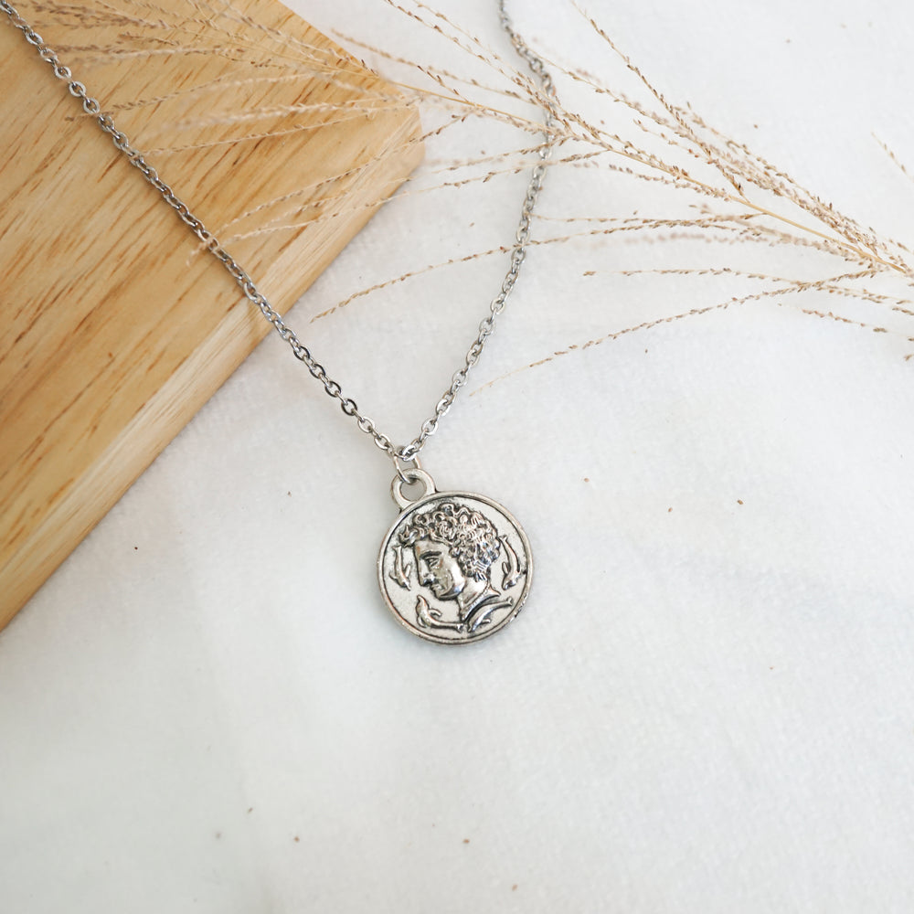 Julius Caesar Coin Necklace - Stainless Steel (Limited Products)
