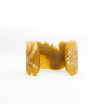 Leaf Engraved Bracelet - Natural Buffalo Horn Cuff - New Style in 2020