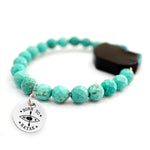 Unique Beaded Bracelet in Turquoise - Handcrafted Personalized Bracelet - Ideal Gift for Her