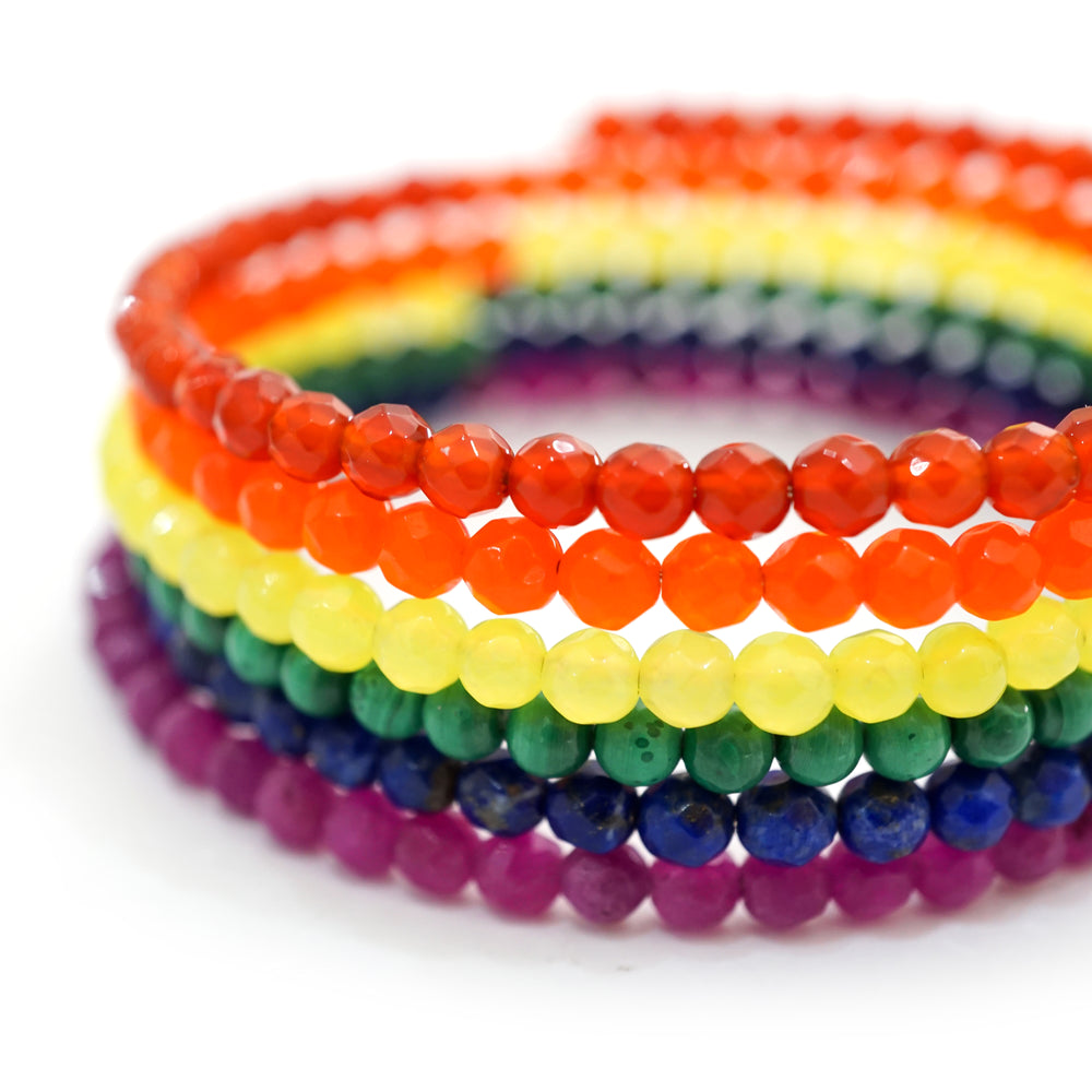 Signature Basic LGBTQ Bracelet Multiple Semi-Precious