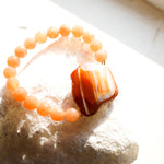 Orange Agate Beaded Bracelet - Handcrafted Jewelry for Women & Girls - New Style 2020