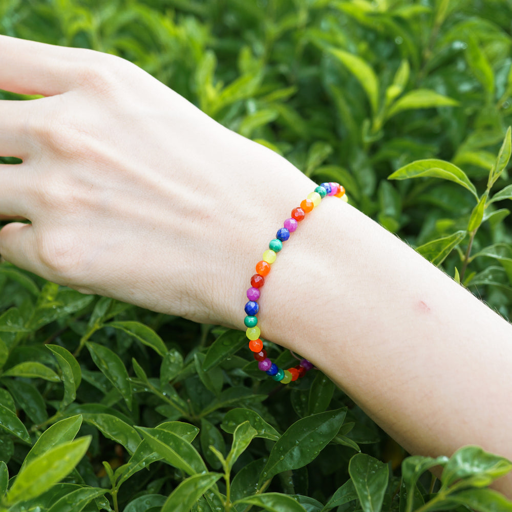 Personalized Simple Daily LGBT Bracelet - for Gay Couple