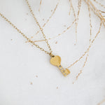 Heart Necklace - Stainless Steel 18K Gold-filled - Love Necklace for Valentine