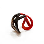 Natural Buffalo Horn Bracelet in Red and Brown - Handmade in Vietnam - Vintage Style