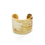 Buffalo Horn Cuff Bracelet - Wide Wrist Band - Handmade from Vietnam 2020