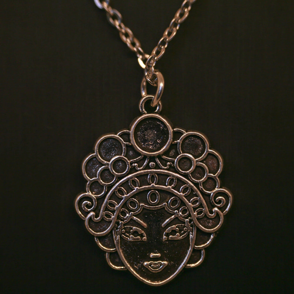 Chinese Peking Opera Mask Necklace - Stainless Steel (Limited Products)