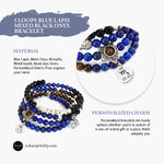 Memory Wire Bracelet- Charm Bracelet- Multi Stone Mixed Onyx, Bronzite and Blue Lapis- Beaded Bracelet- Layered Bracelet for Womens- Personalised gift for her