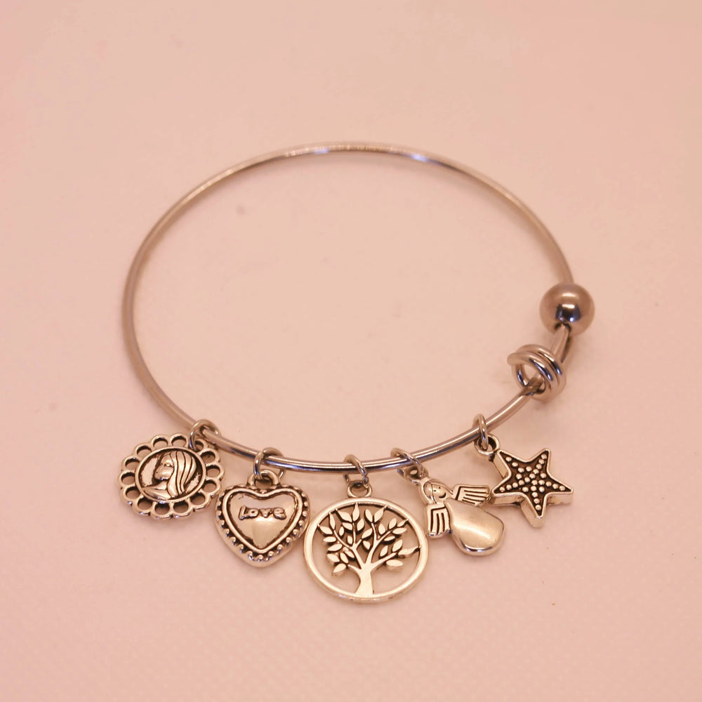 Sunflower, Tree of Life, Love, Star, Angel Bracelet - Stainless Steel (Limited Products)