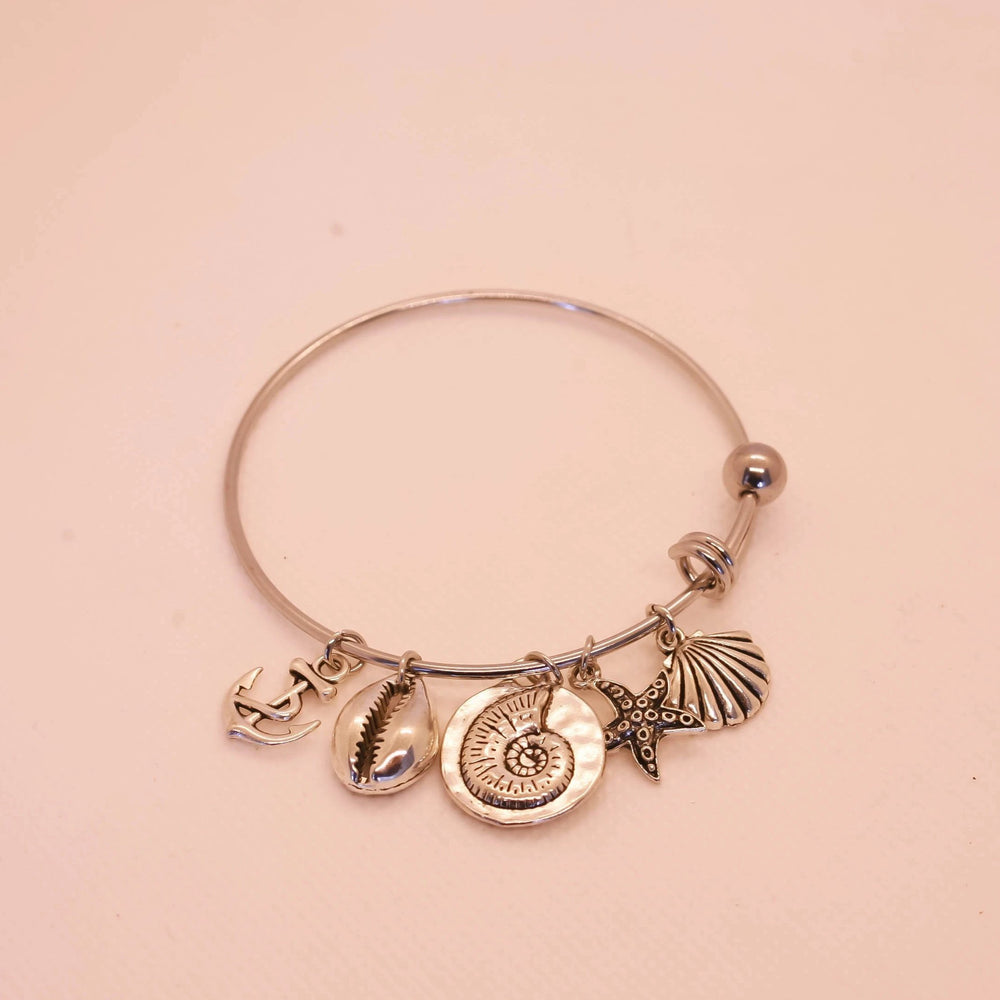 Seashell, Starfish, Conch, Anchor Bracelet - Stainless Steel - Bracelet For Beach Lover (Limited Products)