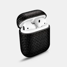 Load image into Gallery viewer, Woven Pattern Real Leather Airpods Protective Case