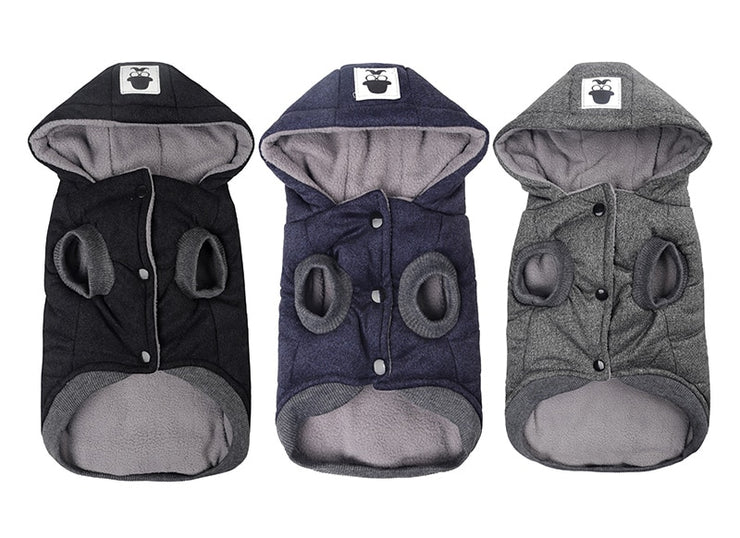 Winter Warm Pet Dog Hooded Clothes