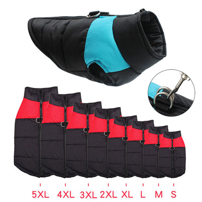 Waterproof Pet Padded Vest Zipper Jacket