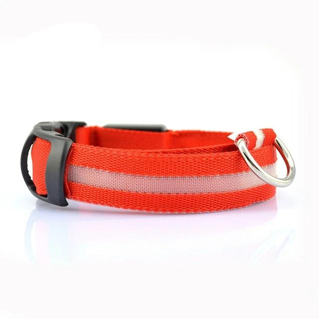 Nylon LED Pet Night Safety Collar