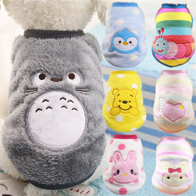 Soft Fleece Cartoon Pet Clothes