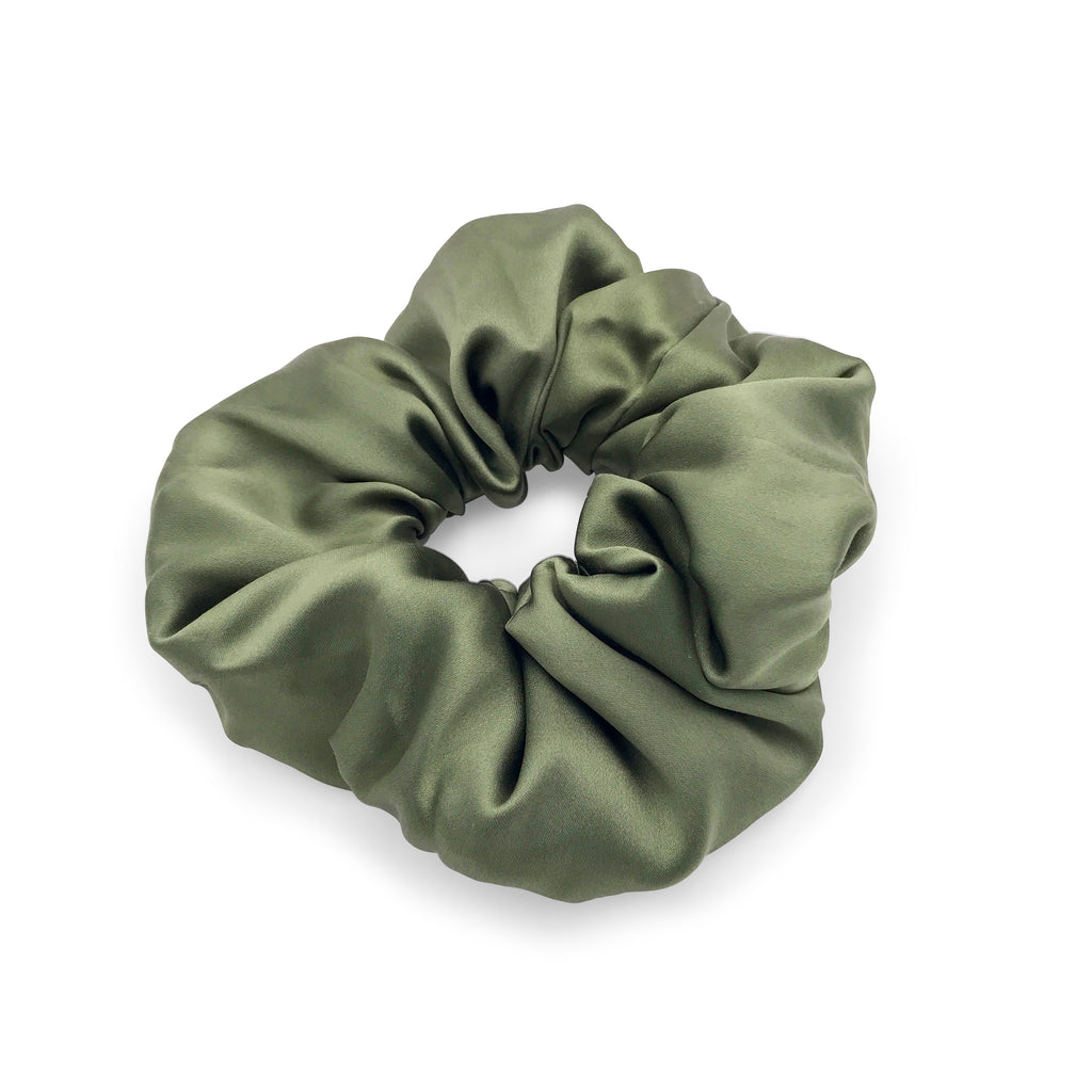 silk hair scrunchie