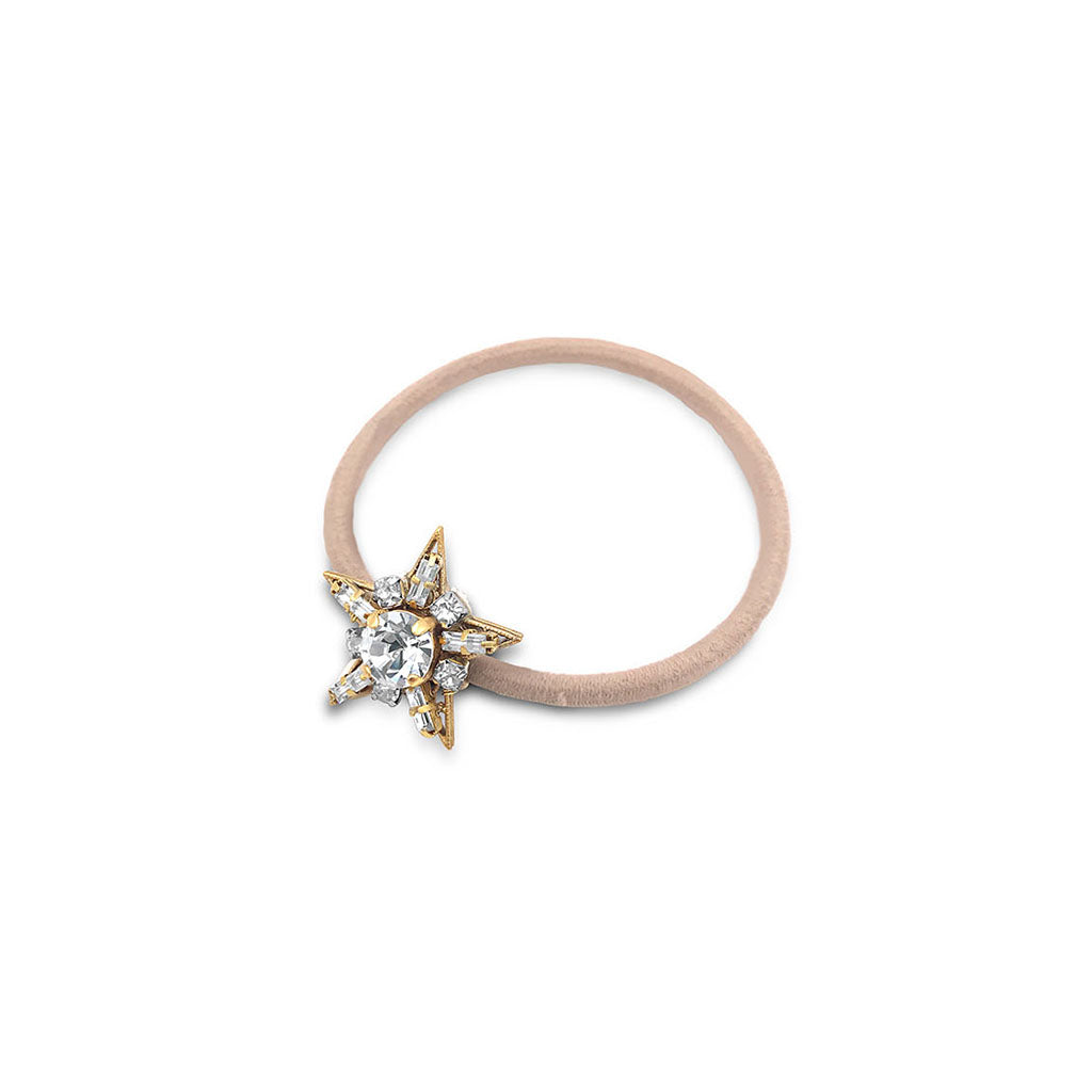 jewelled star pony tail hair band