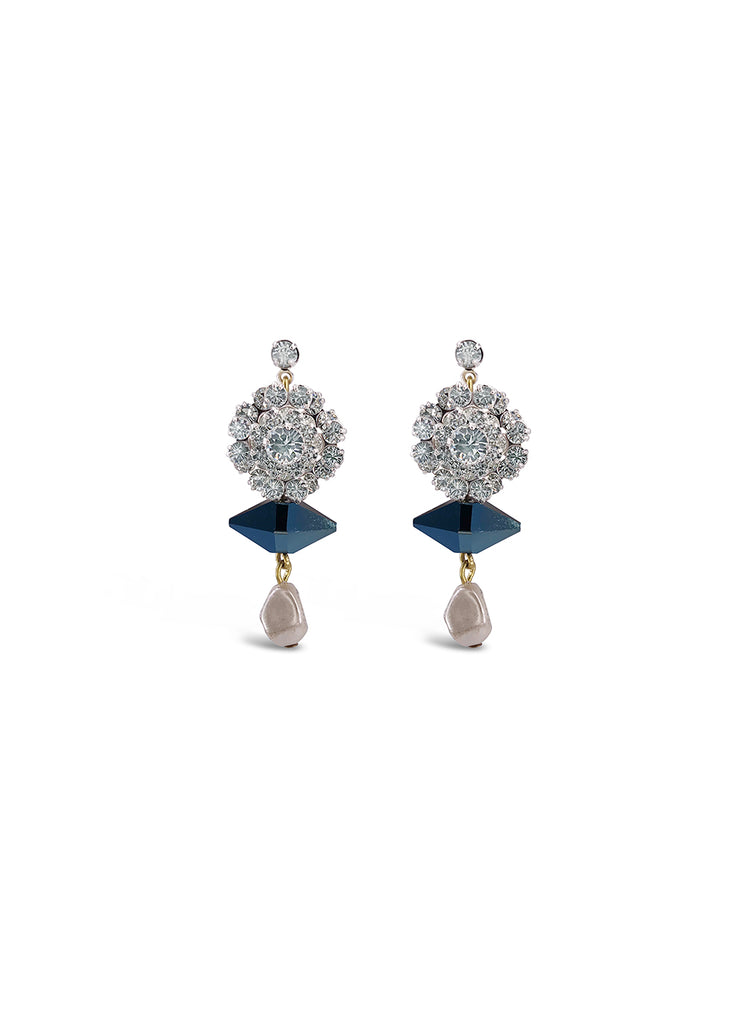 Crystal cluster earrings by Halo & Co