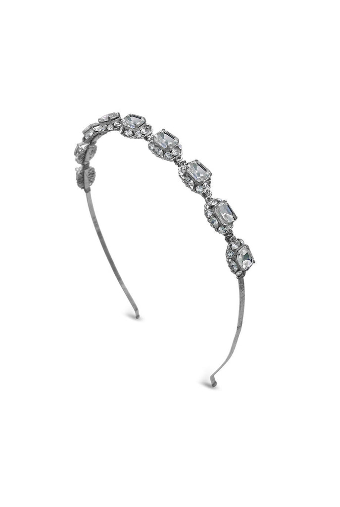 Silver crystal encrusted headband