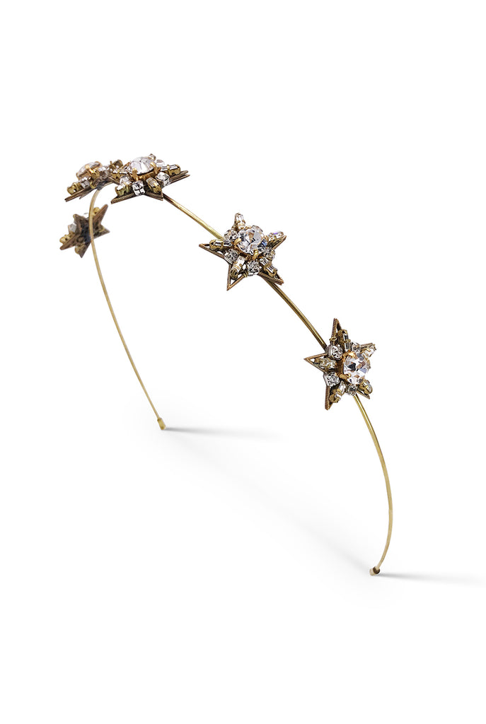 Encrusted star headband