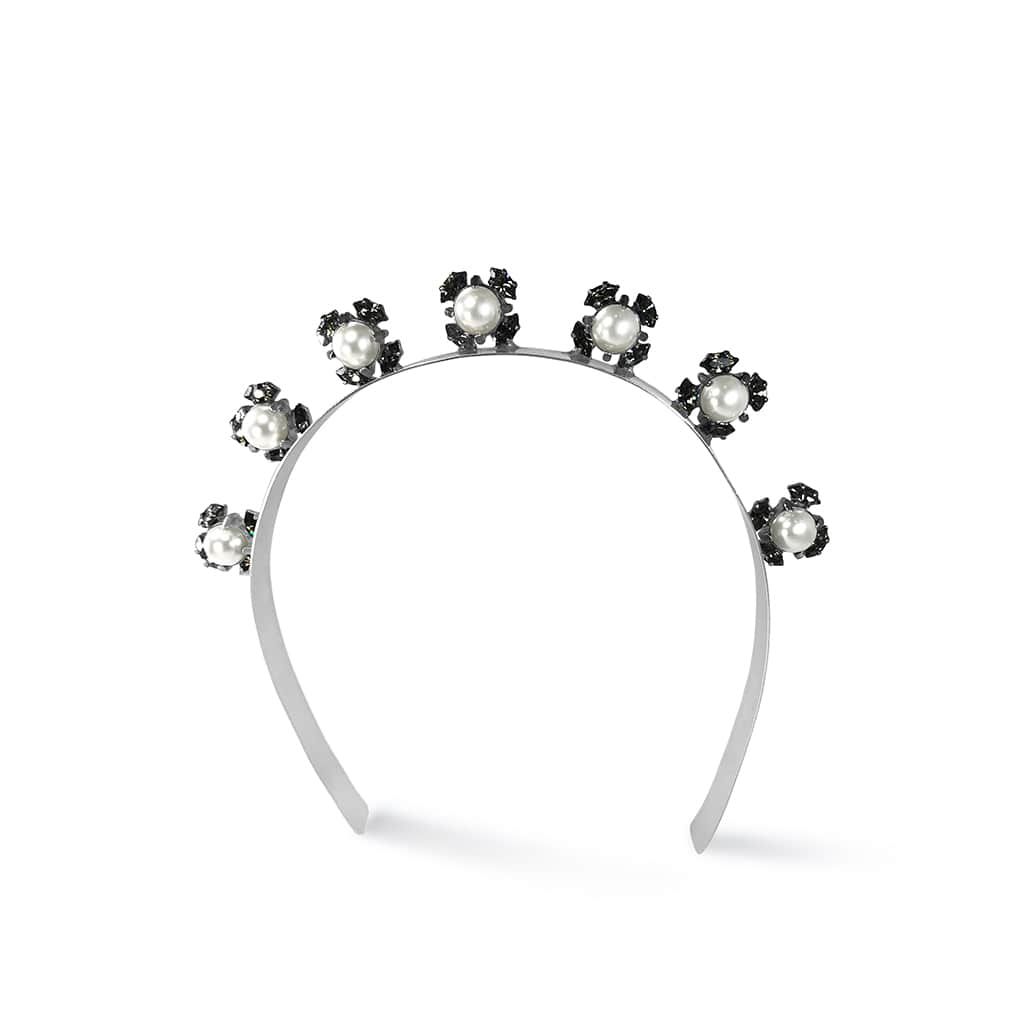Luxury modern pearl and crystal headband