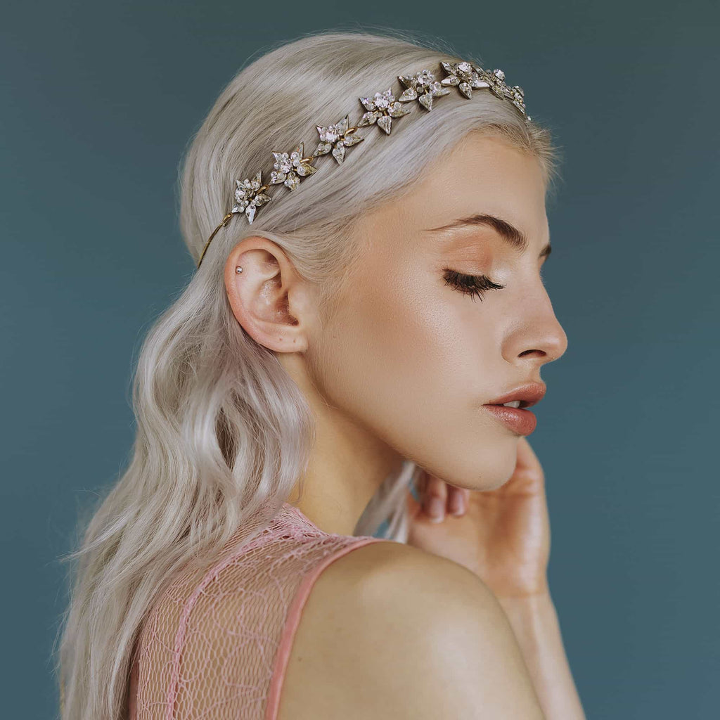 Luxury fashion headband in Swarovski crystal