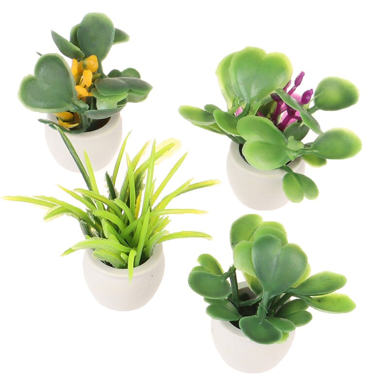 1//12 Dollhouse Miniature Green Potted For Home Decor Simulation Potted Plants/>