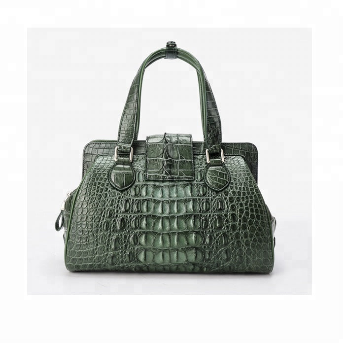 Green Genuine Crocodile Leather Handbag
