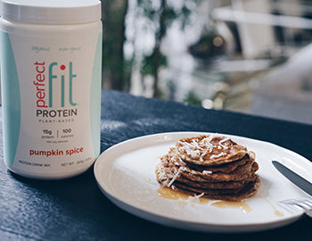 Pumpkin Spice Protein Pancakes for Thanksgiving Breakfast