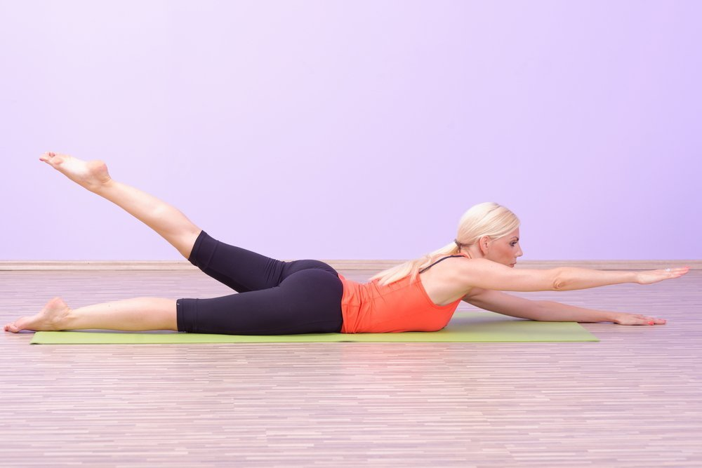 pilates swimming exercise