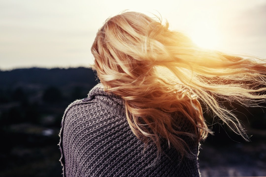 Hair blowing in the wind tips for healthy hair