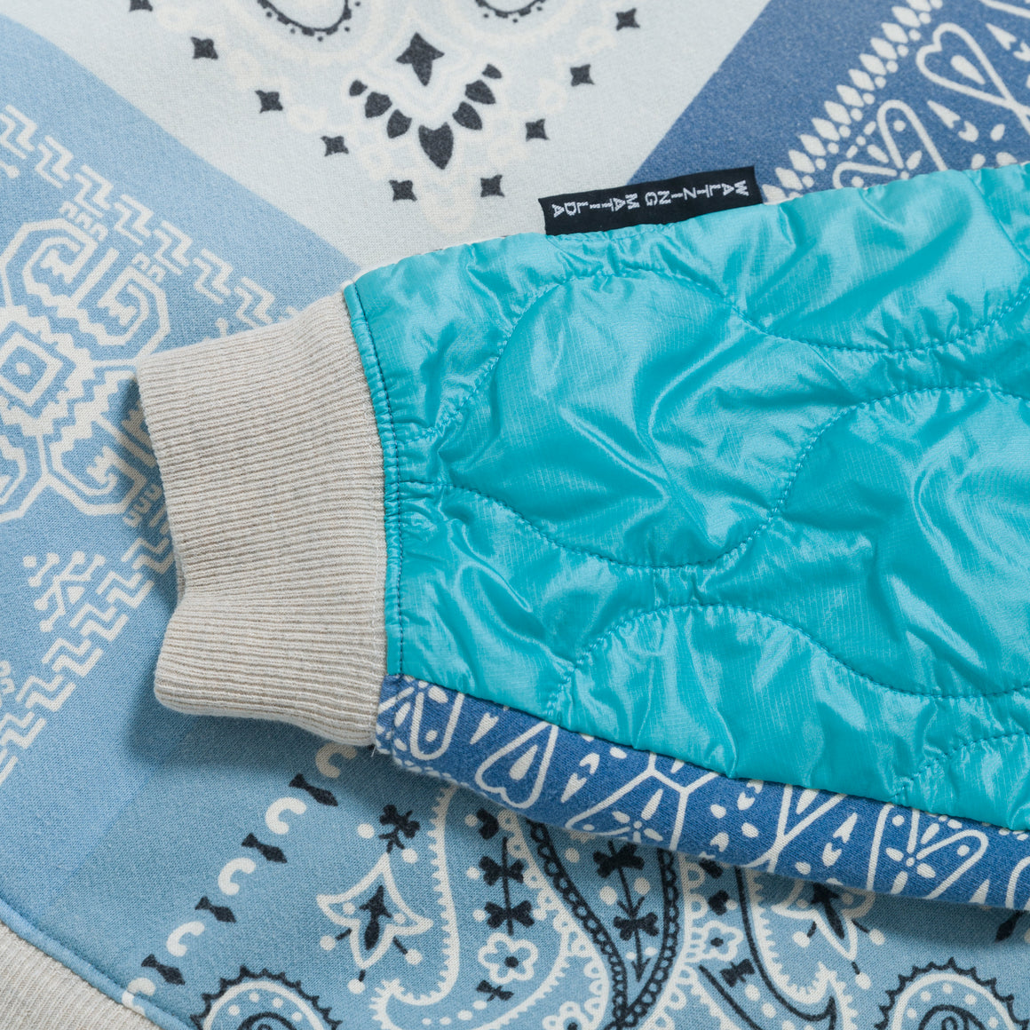 Fleecy Knit Bandana Bivouac Big Sweat - Sax - Up There