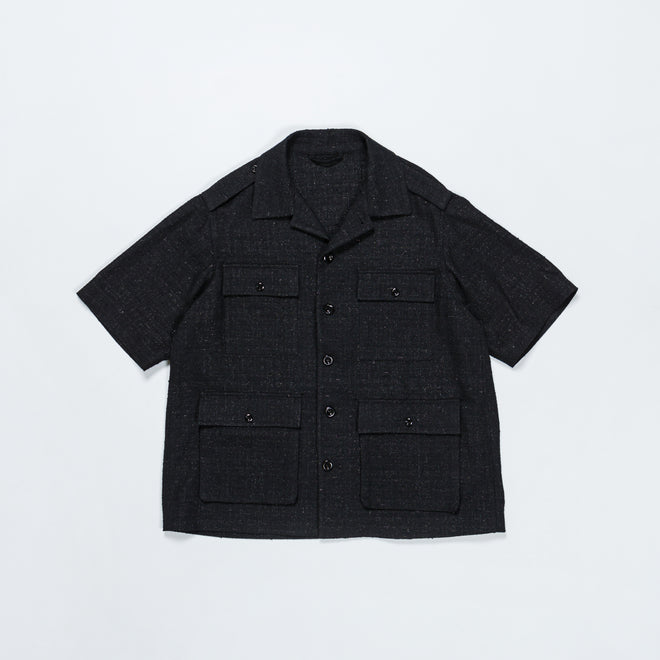 4SDesigns - Tailored Safari Shirt Jacket SS - Black - Up There