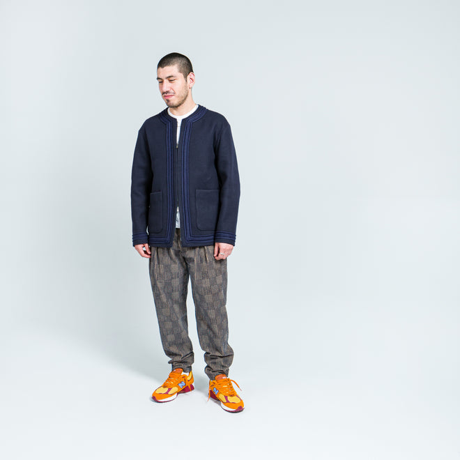 4SDesigns - Cardigan Coat - Navy Superfine Melton - Up There